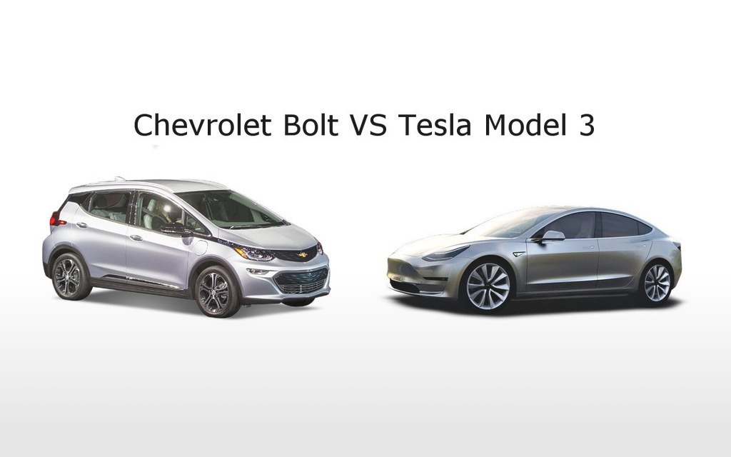 Chevrolet Bolt EV 2017 VS Tesla Model 3, le duel sera inévitable!