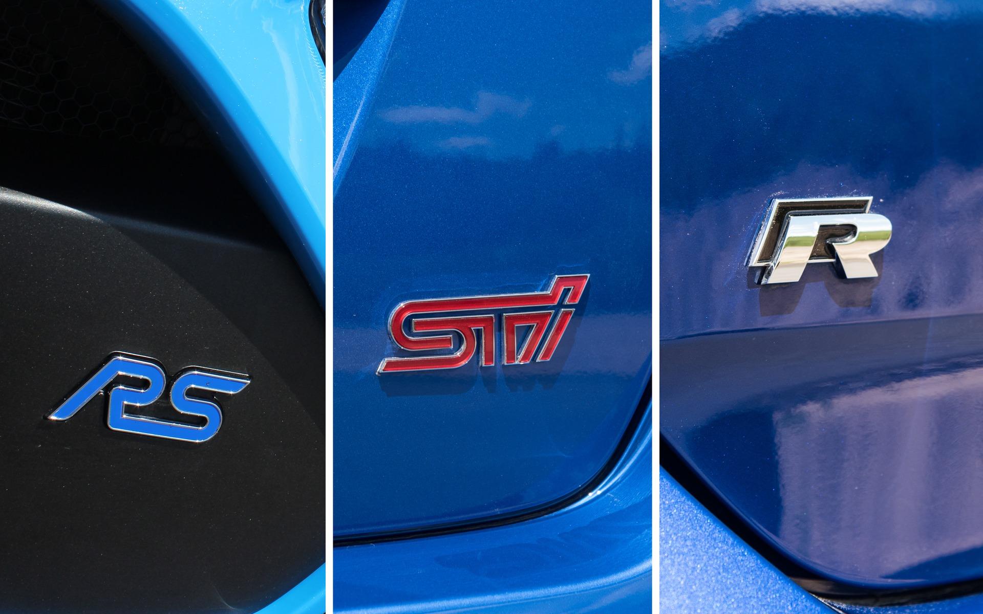 Comparison Test Ford Focus Rs Vs Subaru Wrx Sti Vs Volkswagen Golf R The Car Guide