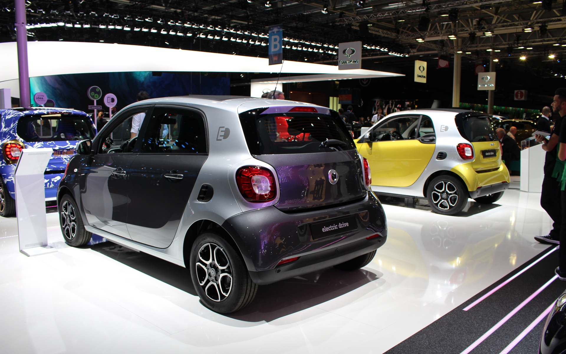 smart fortwo electric drive 2017 le retour de la citadine lectrique 9 26. Black Bedroom Furniture Sets. Home Design Ideas