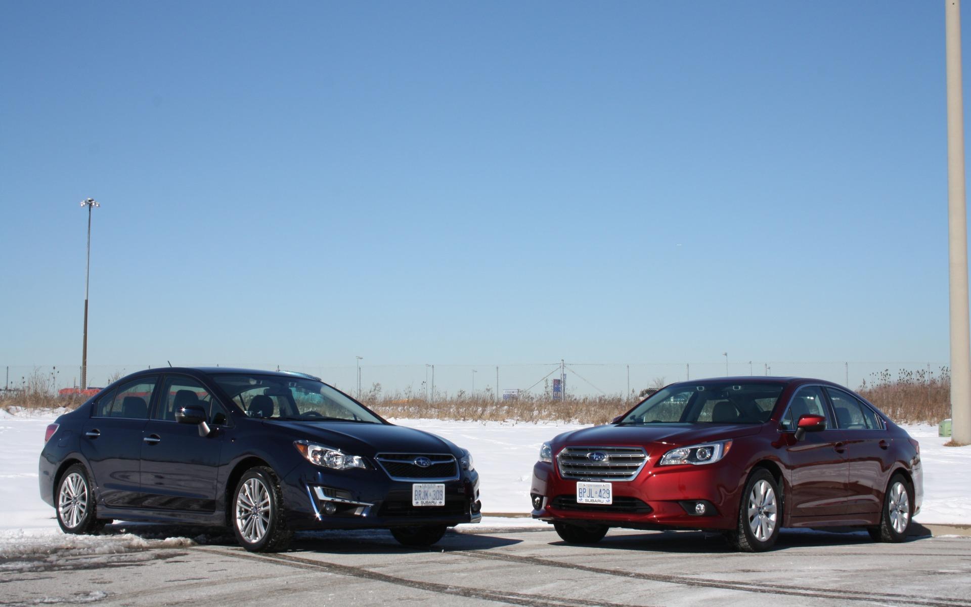 Subaru Impreza et Subaru Legacy 2016