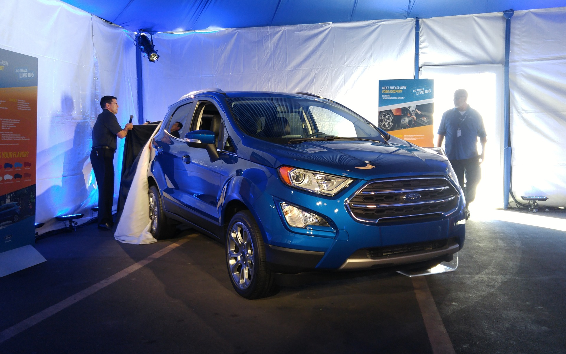 2018 ford ecosport ford enters the subcompact segment the car guide. Black Bedroom Furniture Sets. Home Design Ideas