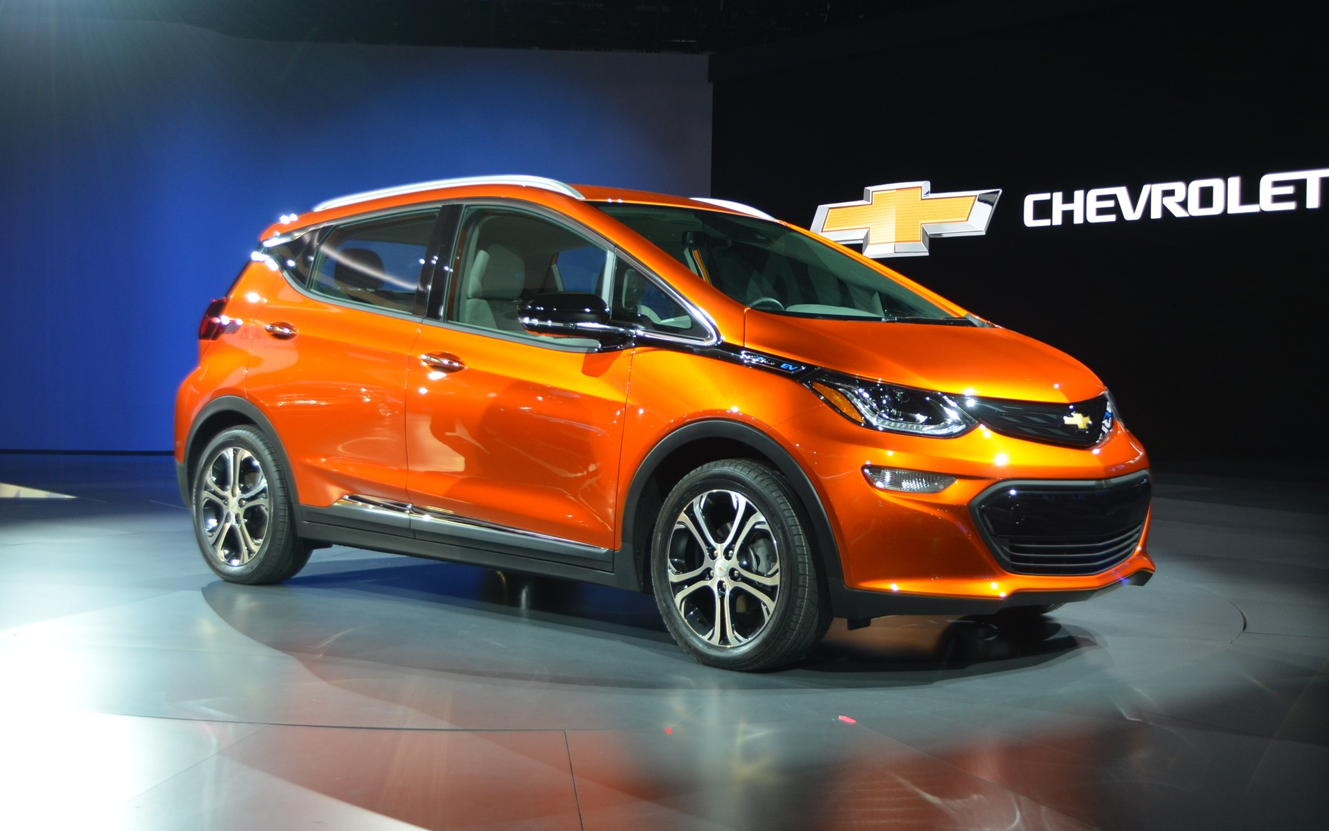 The Chevrolet Bolt EV unveiled at the 2016 Detroit Auto Show.