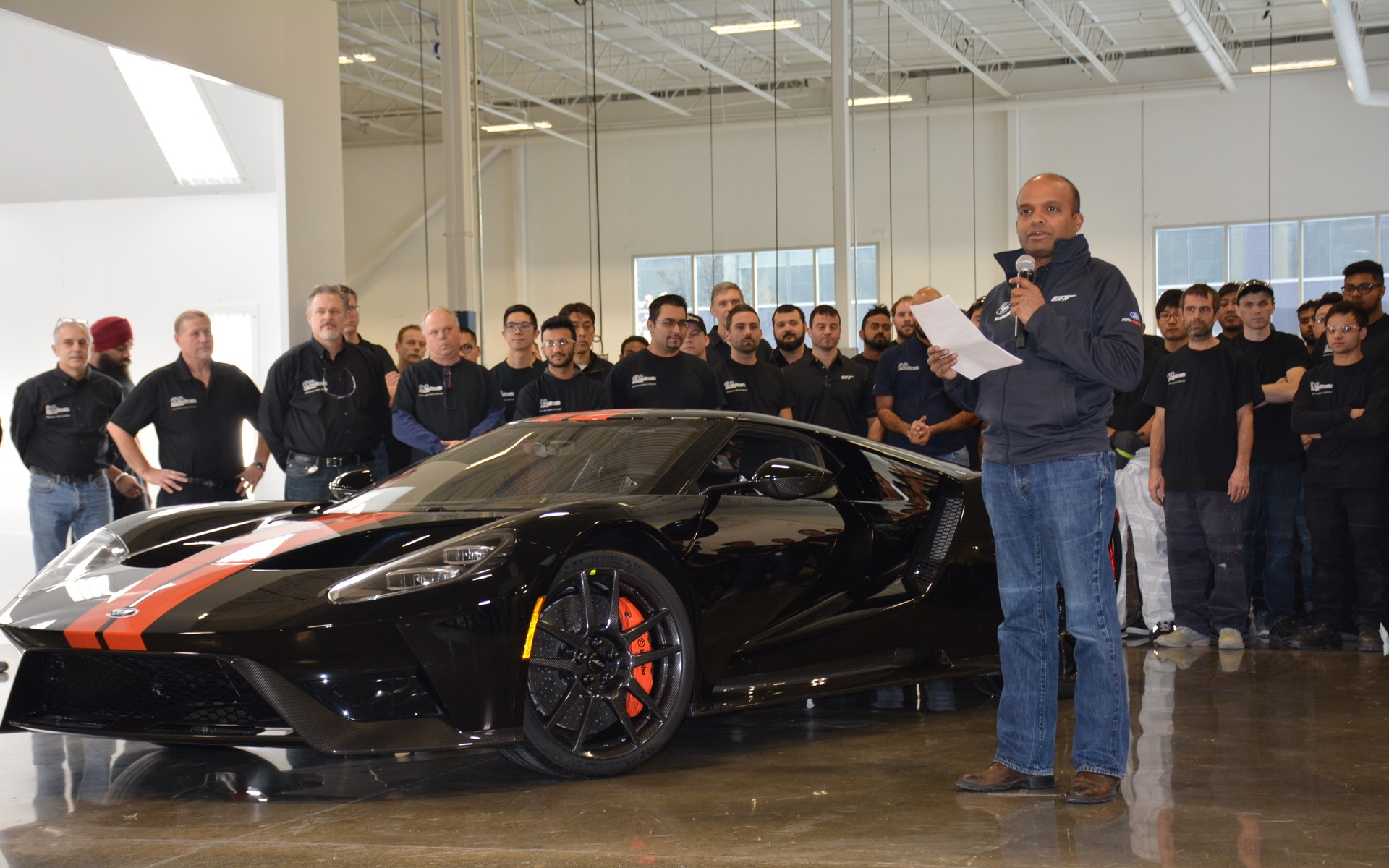 First  Ford Gt Rolls Off The Line In Canada