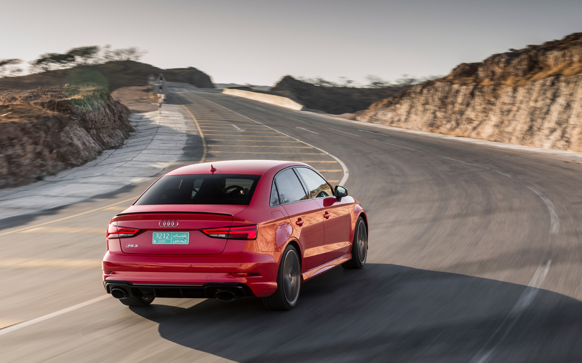 <p>2018 Audi RS 3 - The RS 3 has a lot of grip in fast corners.</p>