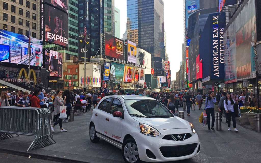 2017 Nissan Micra in Times Square