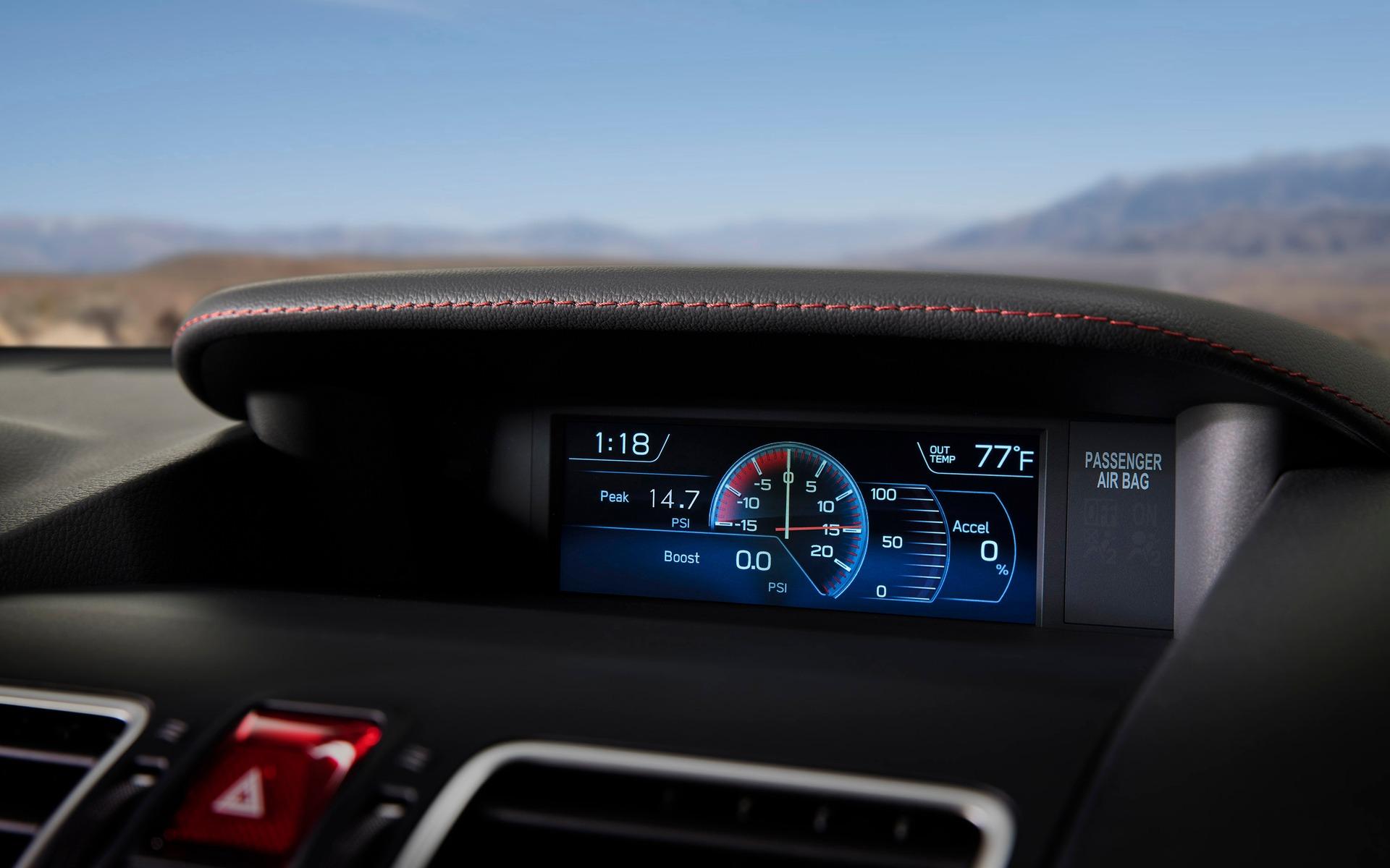 <p>Subaru WRX STI 2018 - Look modifi&eacute; pour la planche de bord.</p>