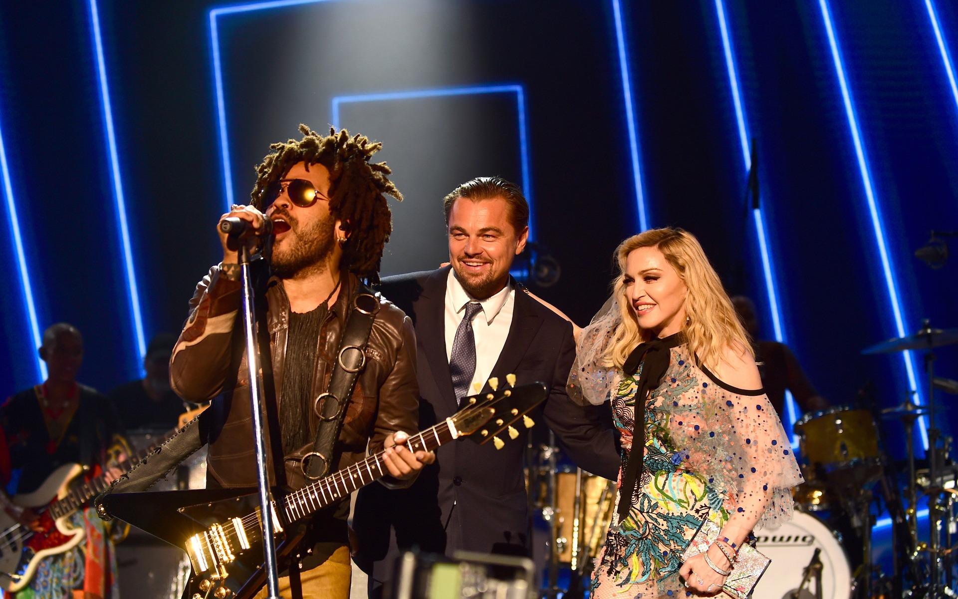 <p>Kravitz, DiCaprio et Madonna</p>