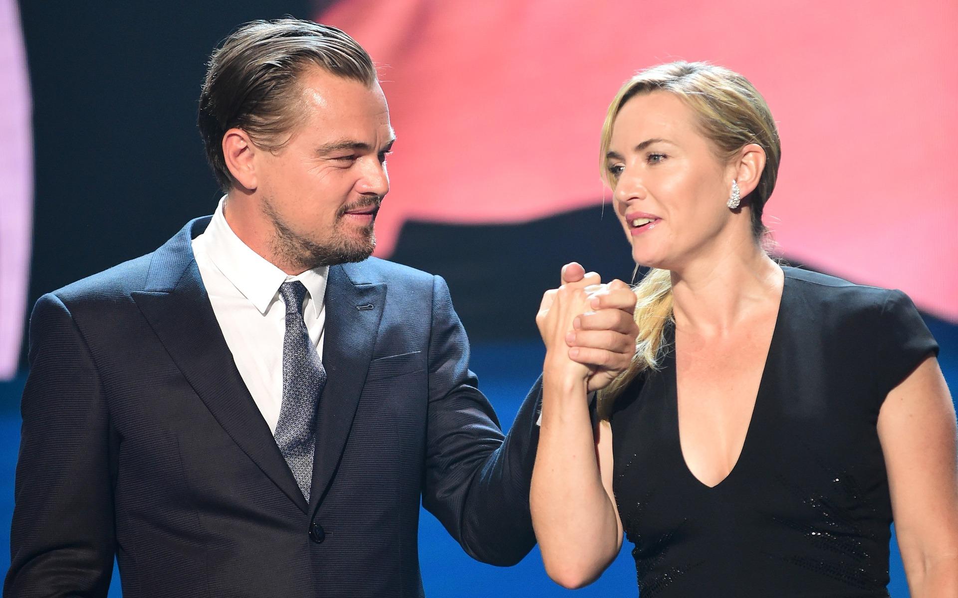 <p>DiCaprio et Kate Winslet</p>