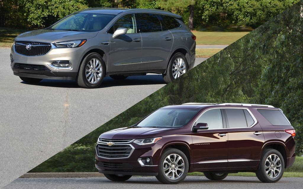 2018 Buick Enclave >> Dix différences entre le Buick Enclave 2018 et le Chevrolet Traverse 2018 - 1/11