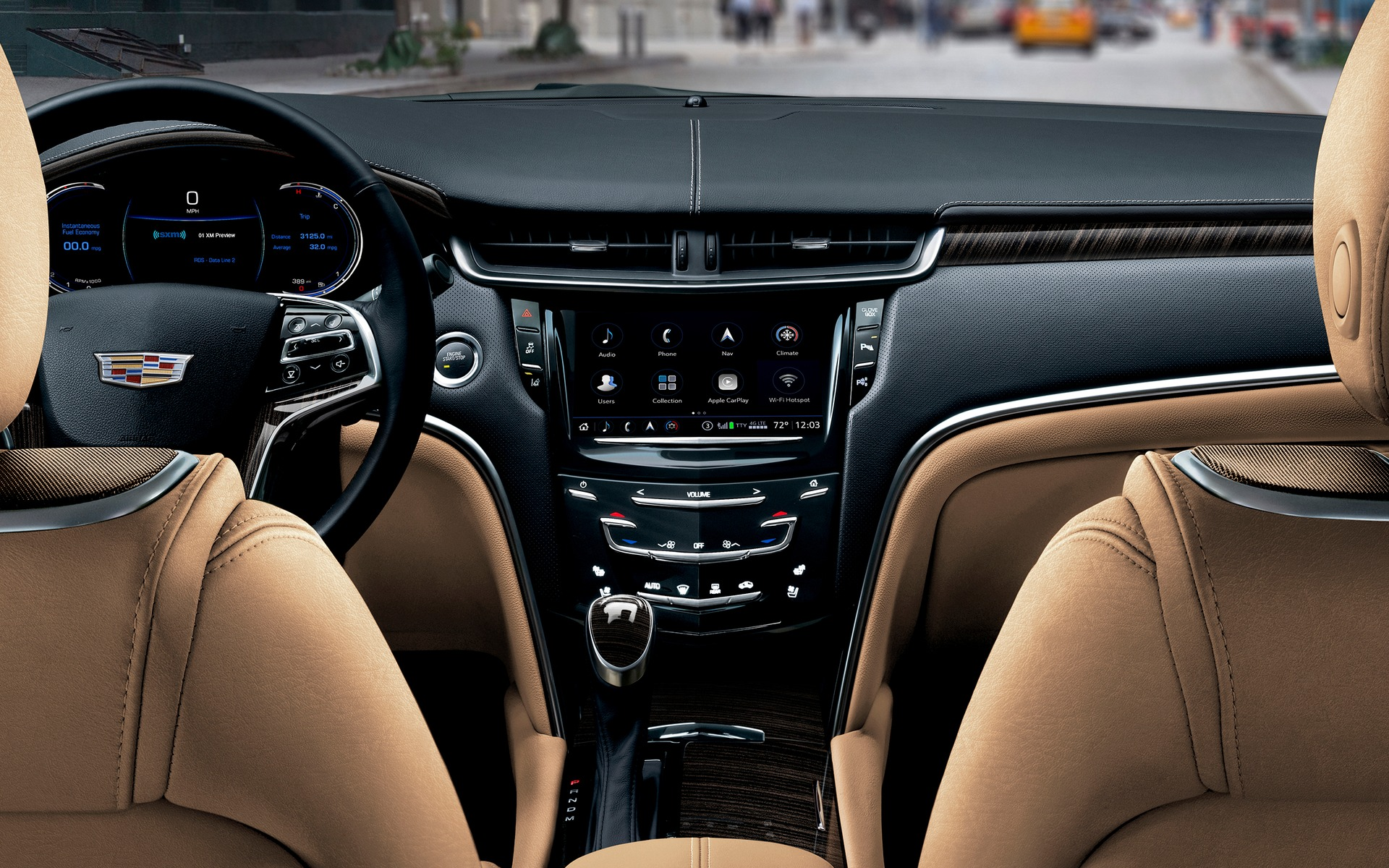 <p>Le syst&egrave;me Cadillac CUE dans la Cadillac XTS 2018.</p>