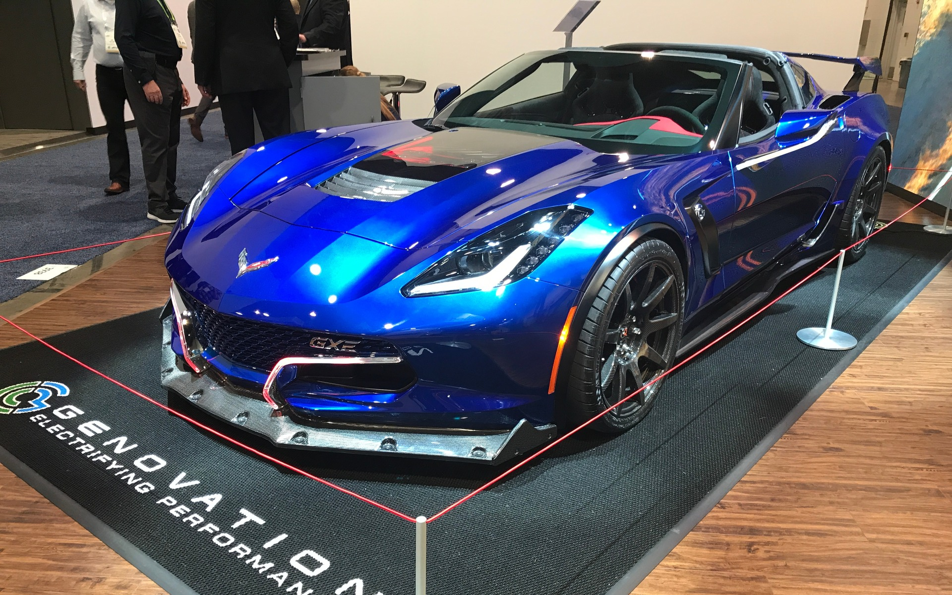 corvette gxe au ces 2018 la voiture lectrique de production la plus rapide au monde 2 7. Black Bedroom Furniture Sets. Home Design Ideas