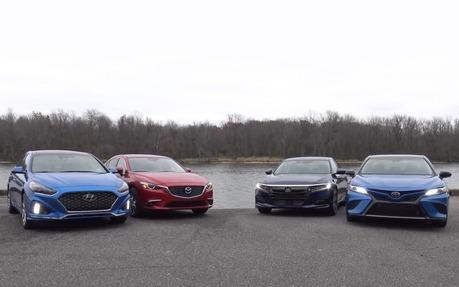 Midsize Sedan Comparison Test Camry Sonata Accord And Mazda6 The Car Guide