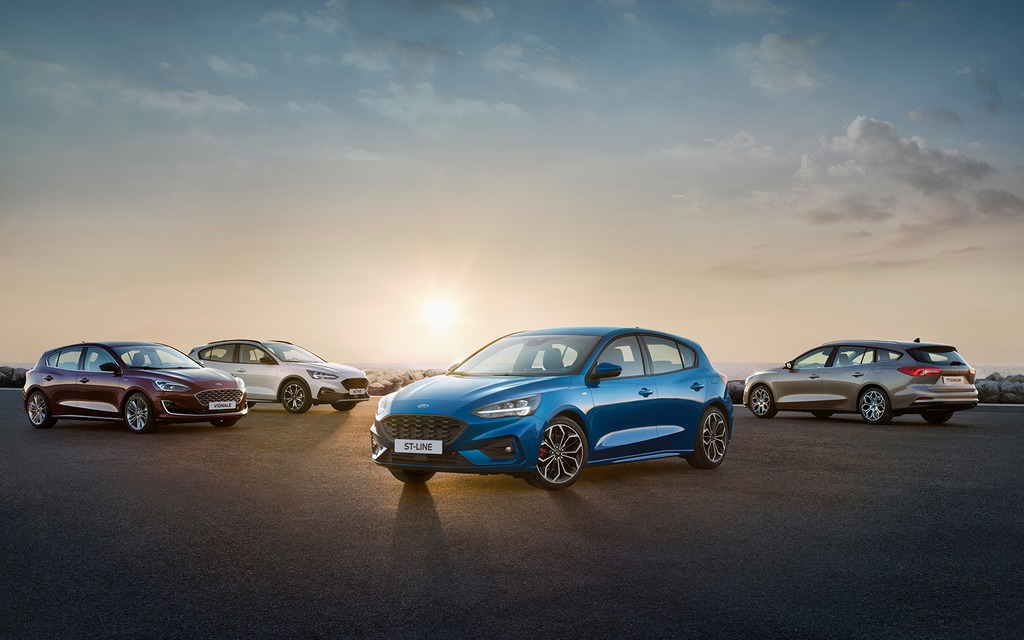 The new Ford Focus will arrive in Canada in 2019 as a 2020 model.