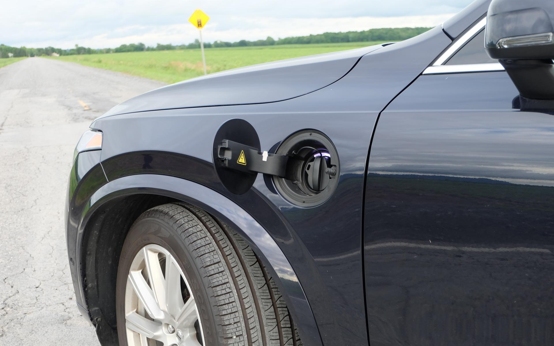 <p>Port de recharge du Volvo XC90 T82018</p>