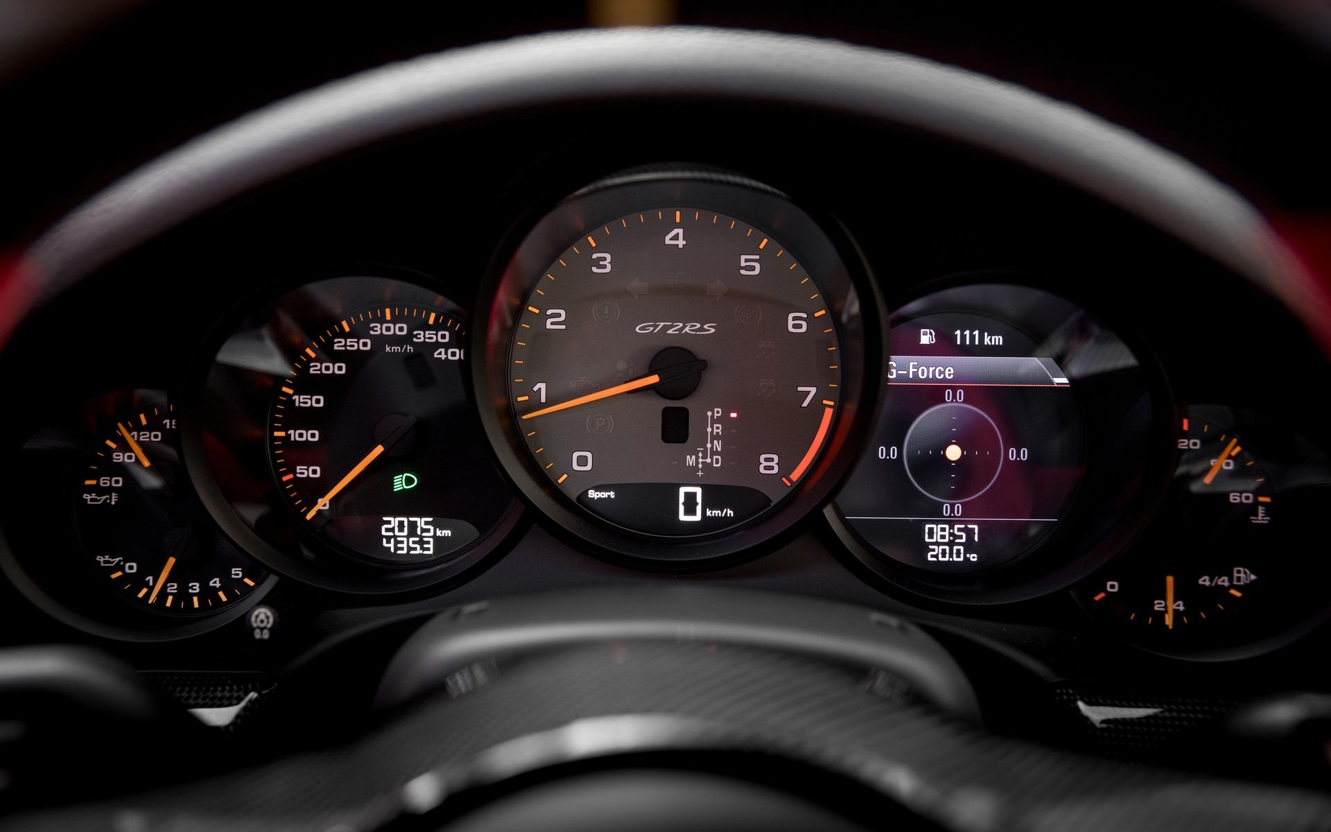 <p>Porsche 911 GT2 RS 2018 - Tableau de bord.</p>