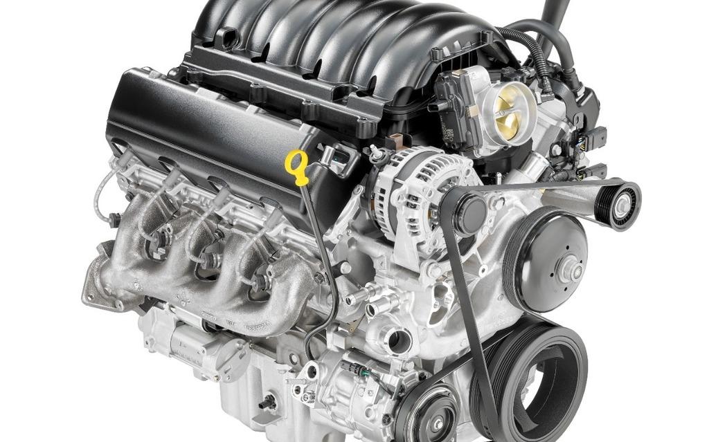 <p>V8 de 5,3 litres avec gestion dynamique du carburant</p>