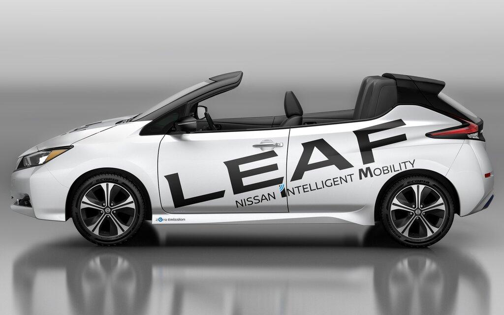 voici la nouvelle nissan leaf open car d capotable. Black Bedroom Furniture Sets. Home Design Ideas