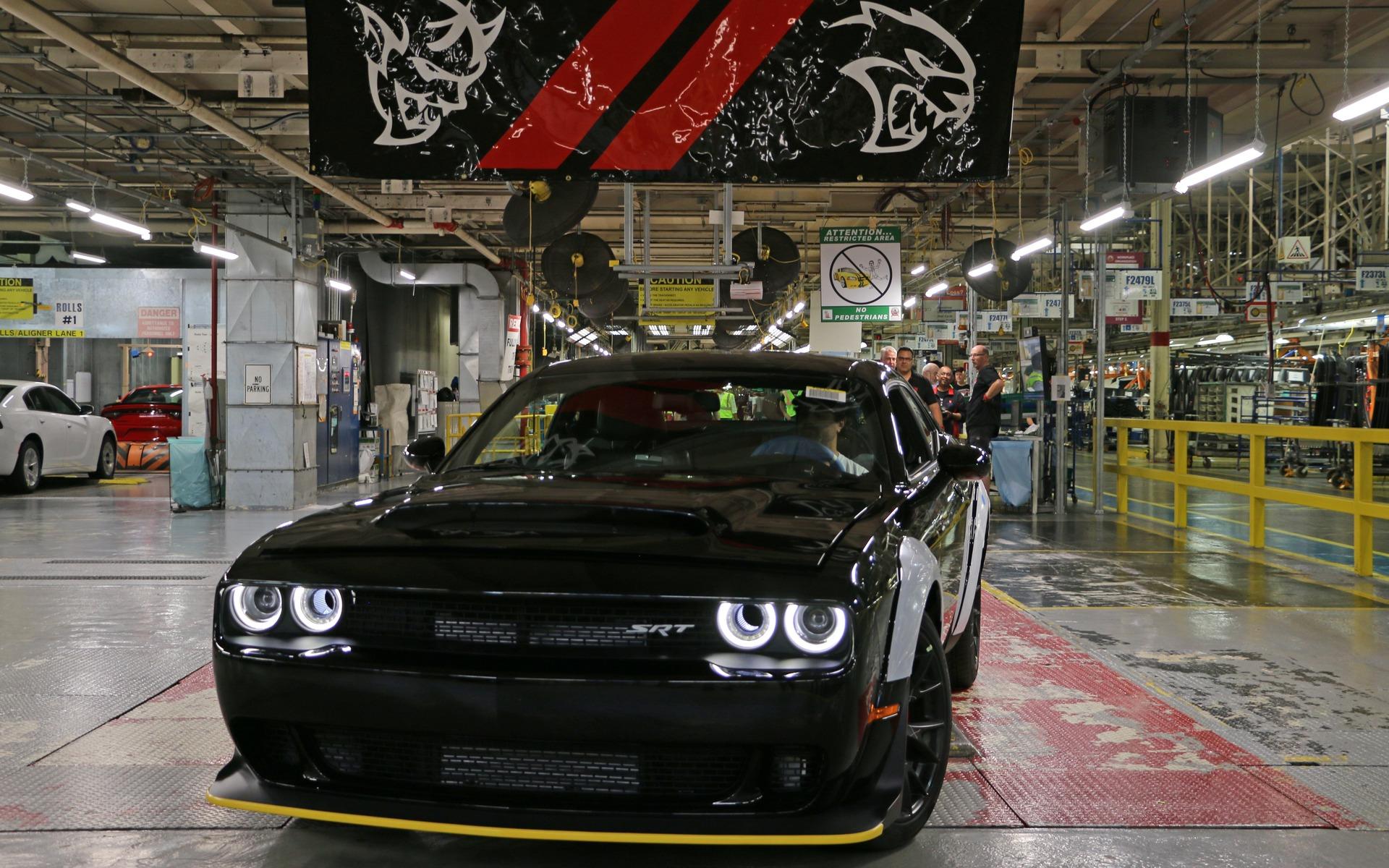 Dernière Dodge Challenger SRT Demon 2018 sur la chaîne de montage