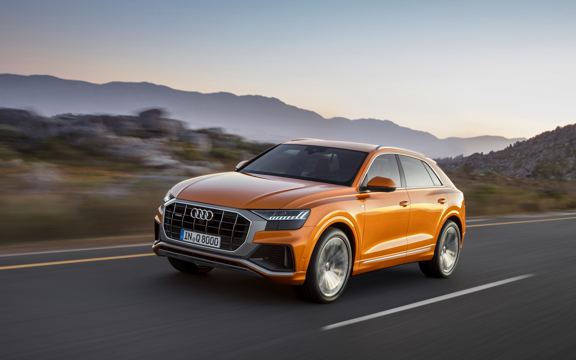 2019 Audi Q8 on the road