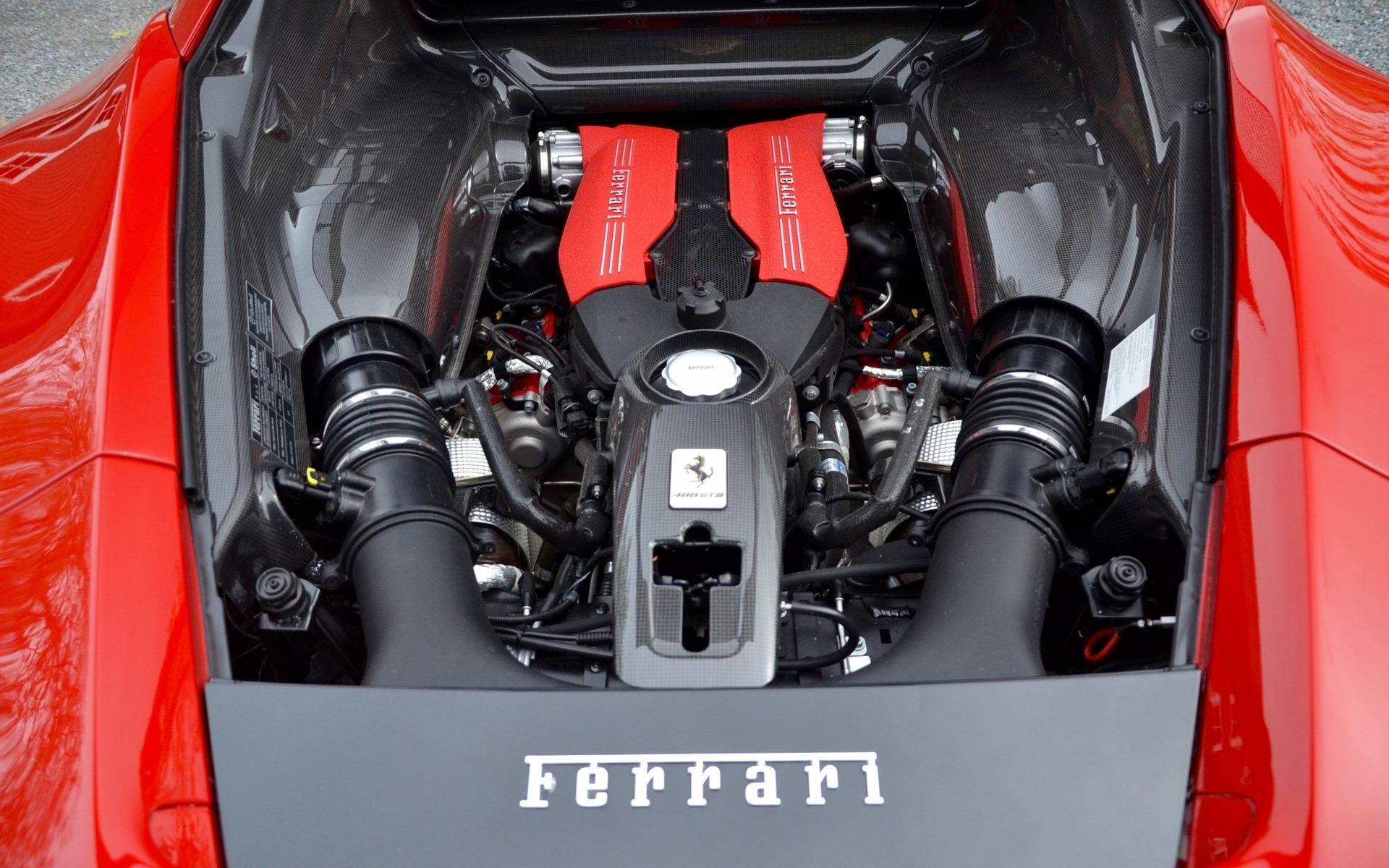 3.9-litre twin-turbo V8 from Ferrari