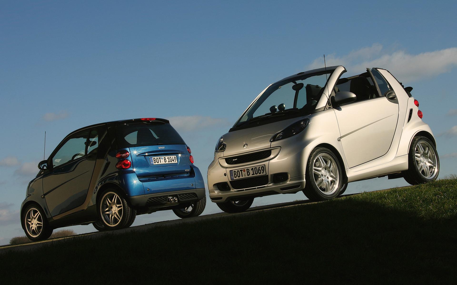 <p>Les premiers modèles smart fortwo BRABUS</p>