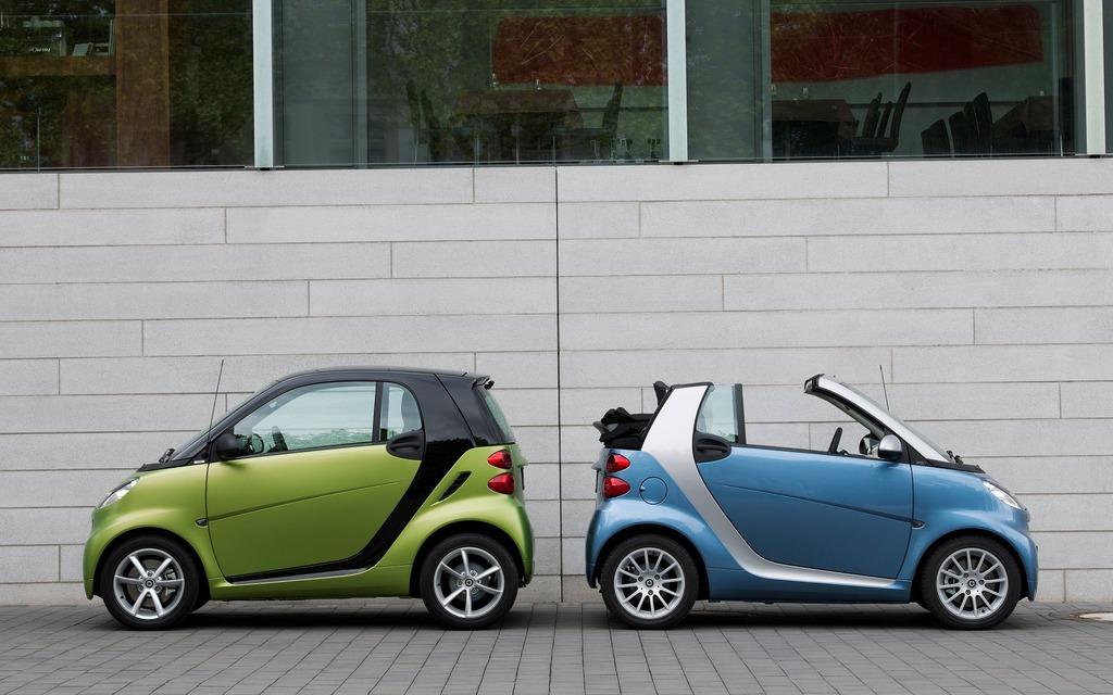 <p>La gamme de la smart fortwo 2010, coup&eacute; et cabriolet</p>
