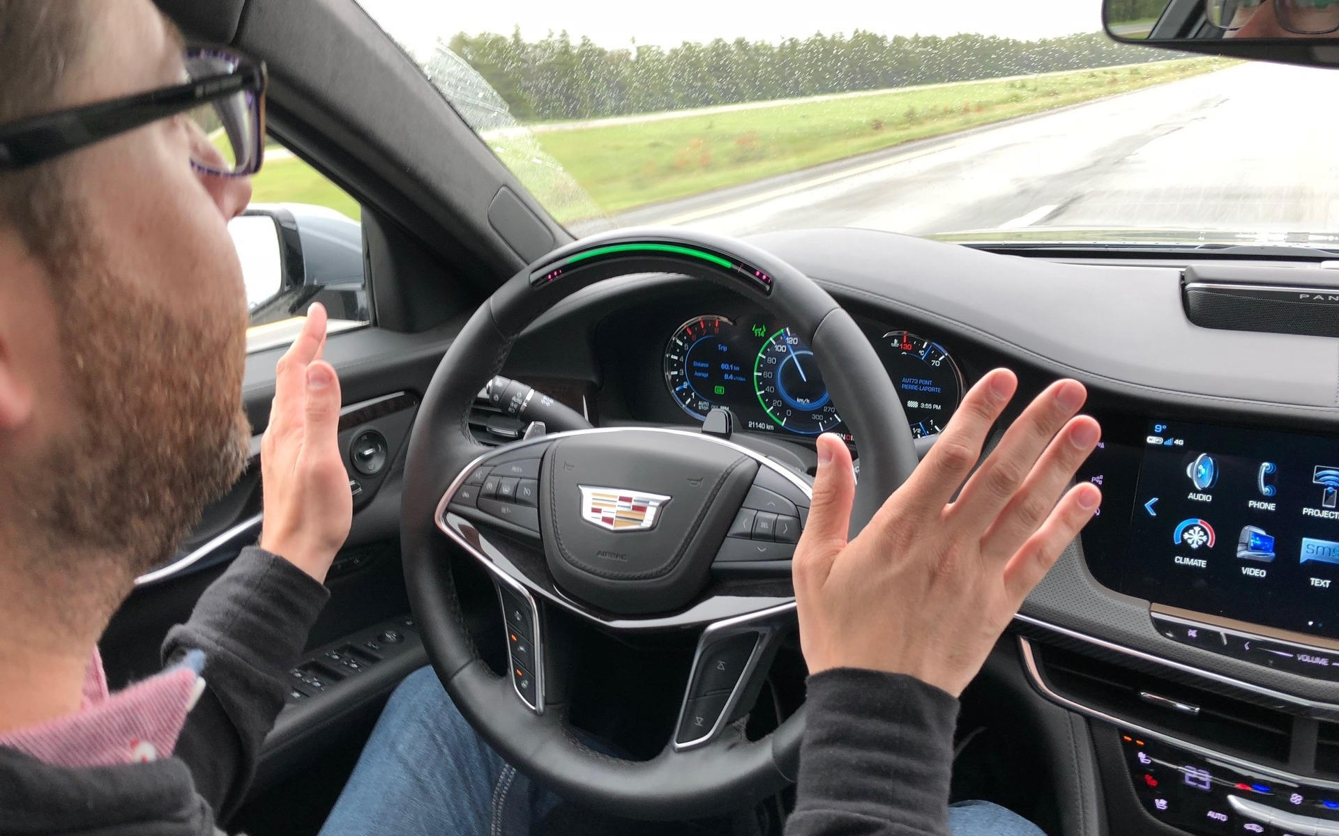 La technologie Super Cruise de Cadillac dans la berline CT6.