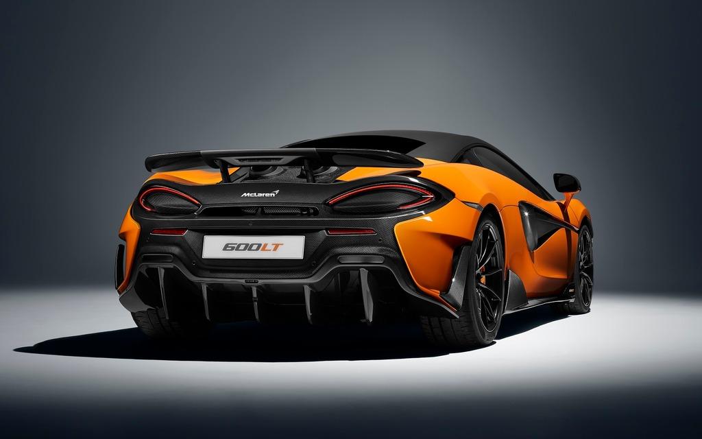 <p>La nouvelle McLaren 600LT 2019 frappe fort vue sous cet angle!</p>