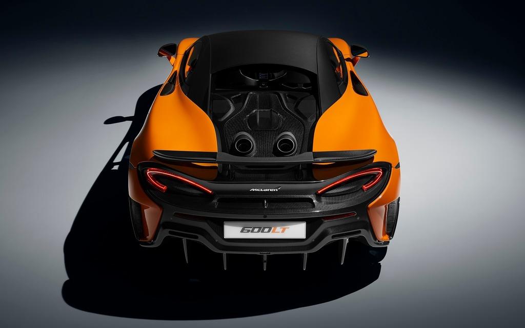 <p>La nouvelle McLaren 600LT 2019 renferme un V8 biturbo de 592 chevaux</p>