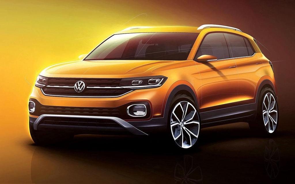 <p>&Eacute;bauche du futur Volkswagen T-Cross</p>