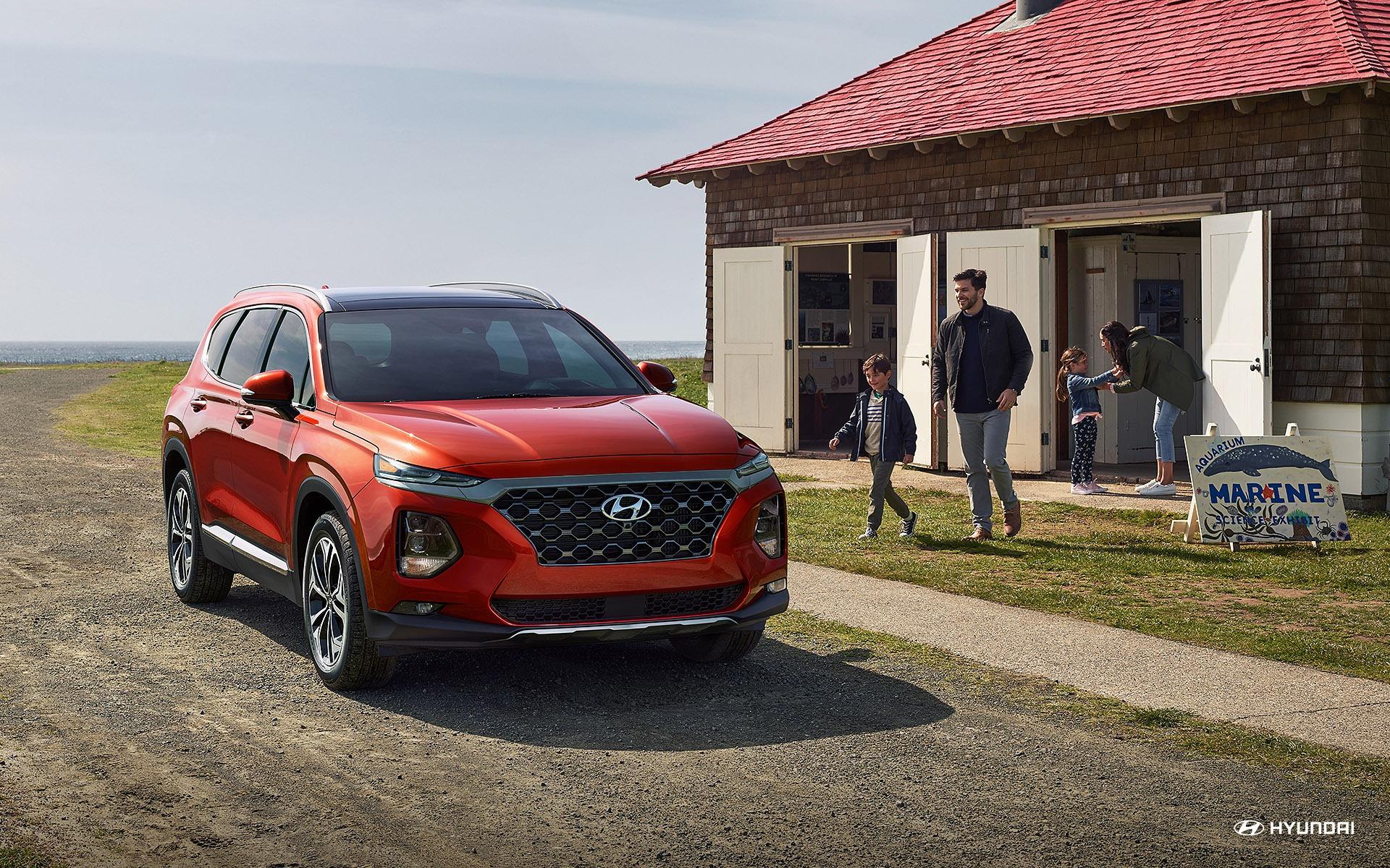 <p>Hyundai Santa Fe 2019 complètement redessiné</p>