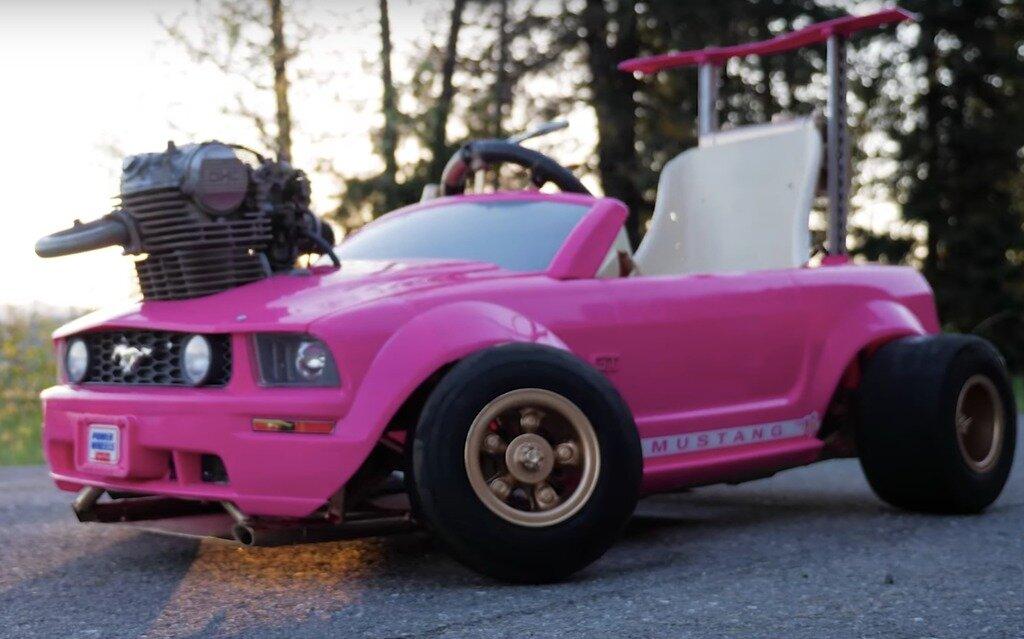 ajouter un moteur de moto  u00e0 une voiture pour enfant  go  on le fait