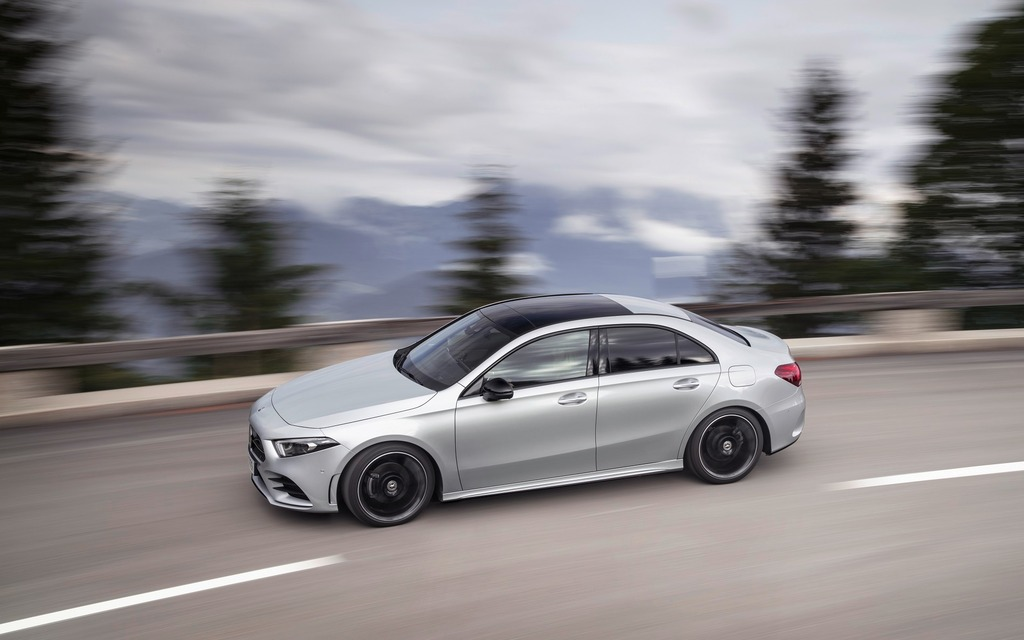 <p>The A-Class Sedan will be very agile on the road</p>