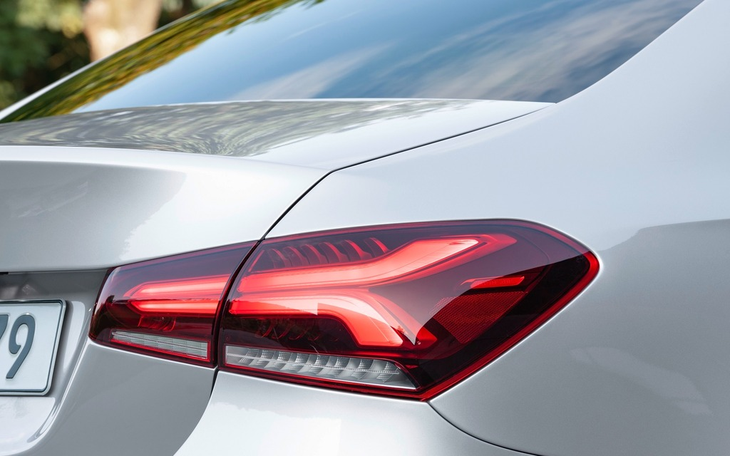<p>The taillights on the new Mercedes-Benz A-Class Sedan are superb!</p>