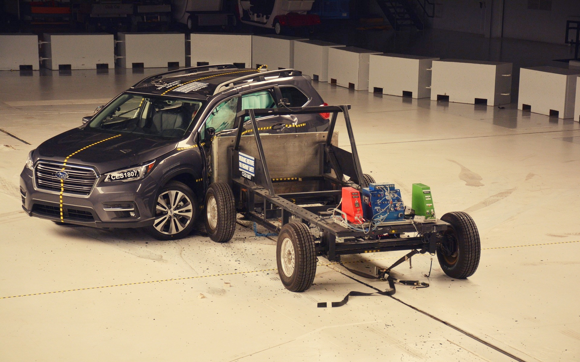 IIHS side impact crash test for 2019 Subaru Ascent
