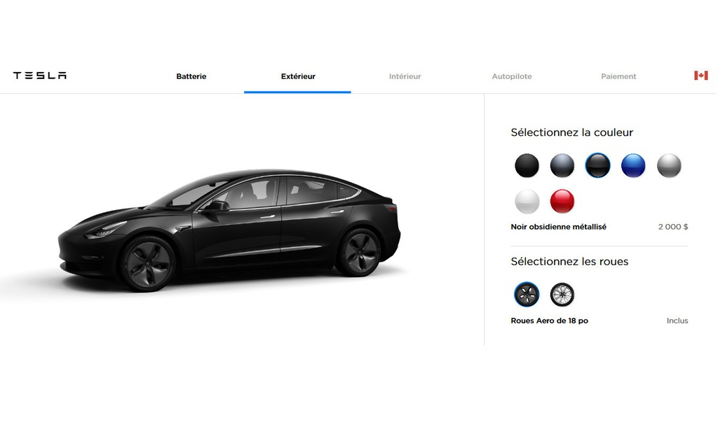 tesla veut simplifier sa production et retire deux couleurs pour la model 3 guide auto. Black Bedroom Furniture Sets. Home Design Ideas