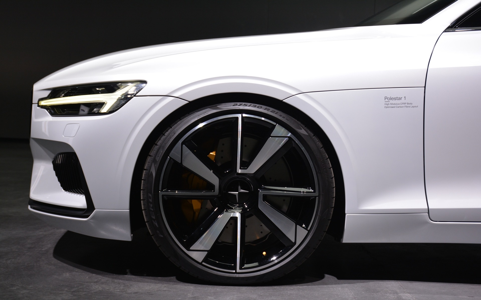 <p>The Polestar 1 halo car</p>