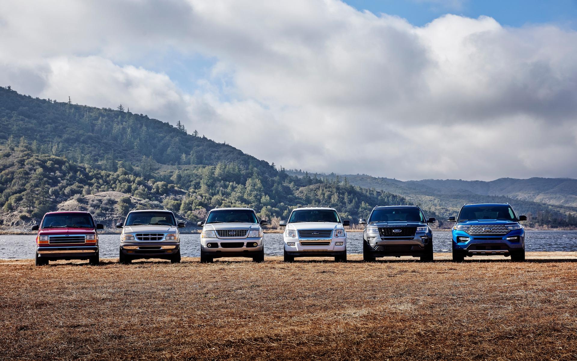 <p>Six génération du Ford Explorer</p>