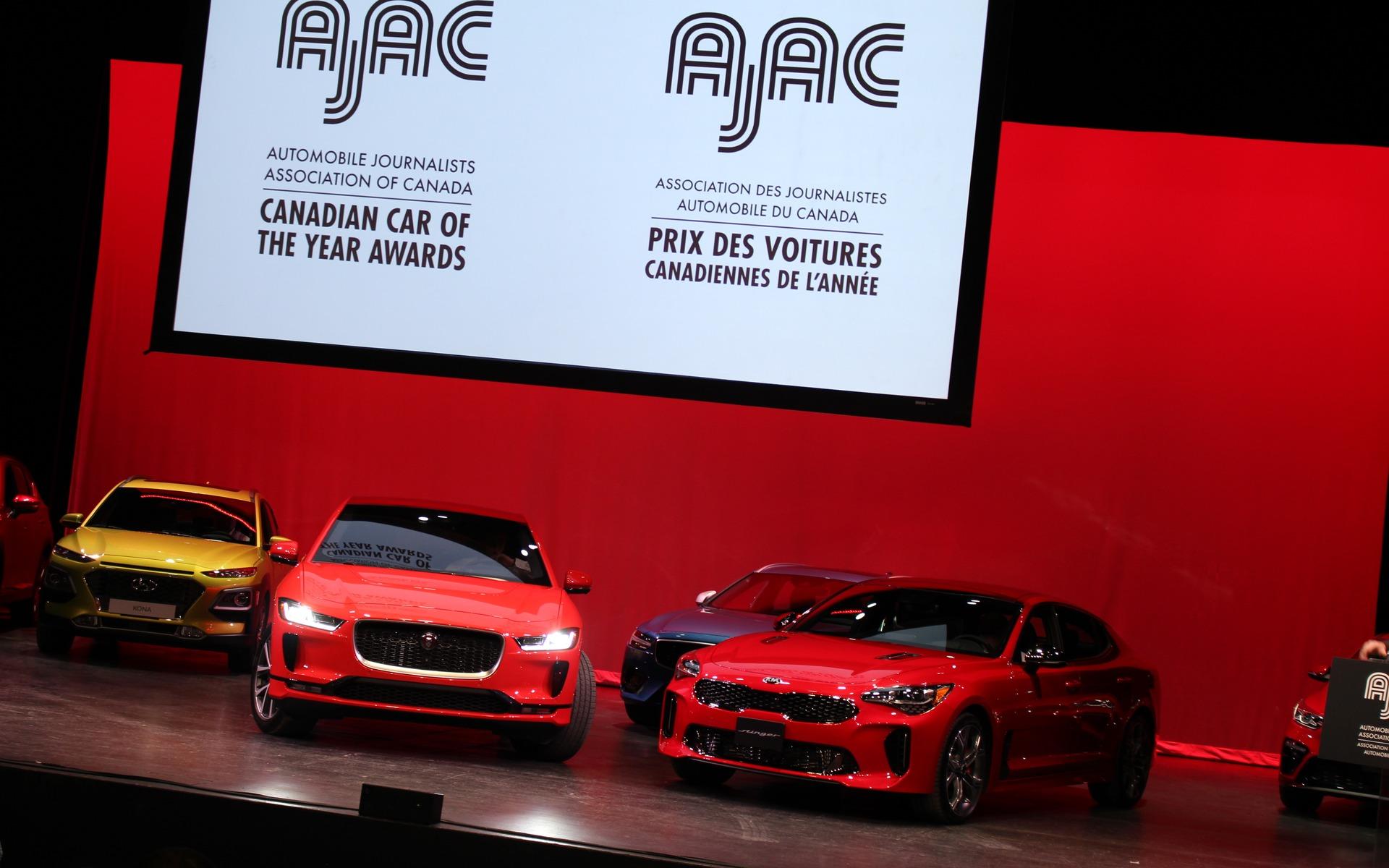 Kia Stinger and Jaguar I-PACE Win AJAC's 2019 Canadian Car