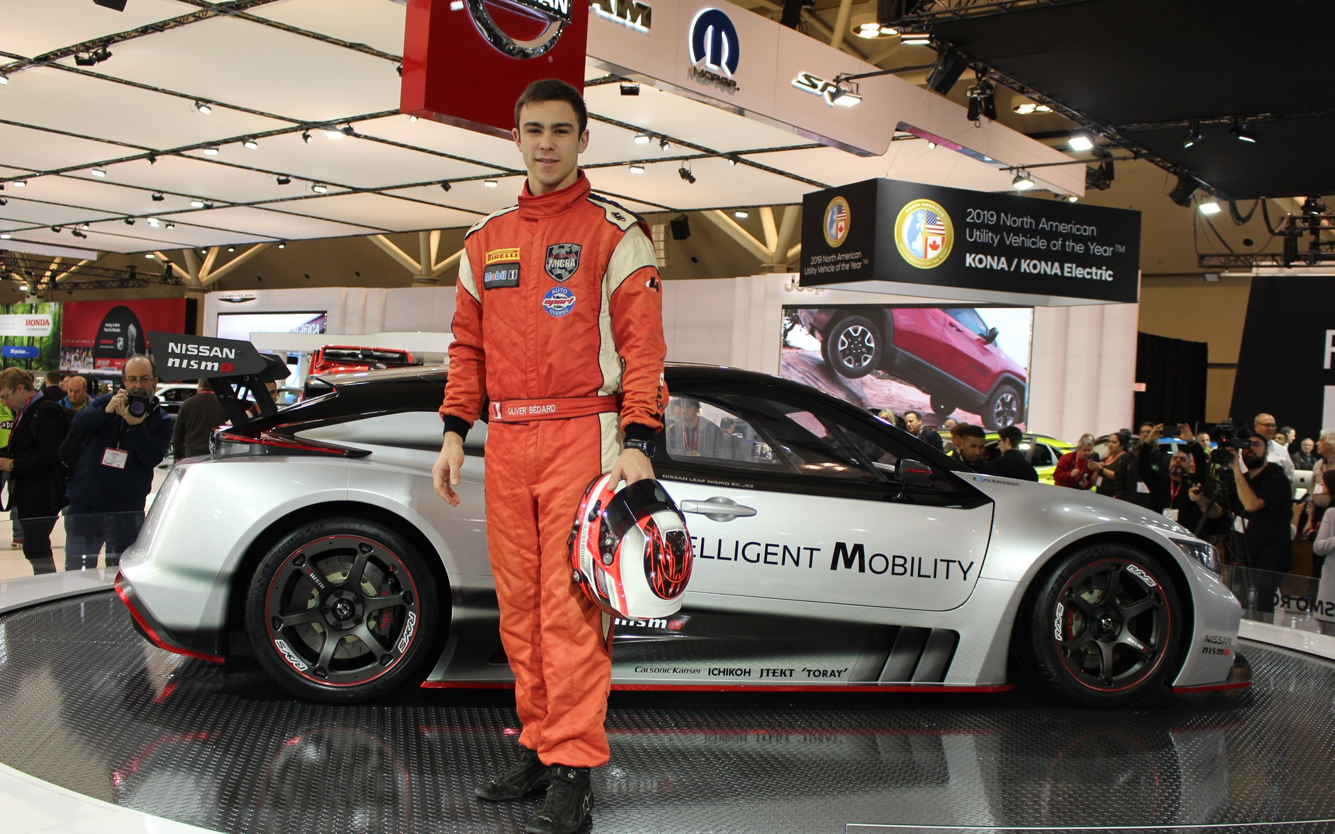 <p>Nissan LEAF Nismo RC and Olivier B&eacute;dard</p>