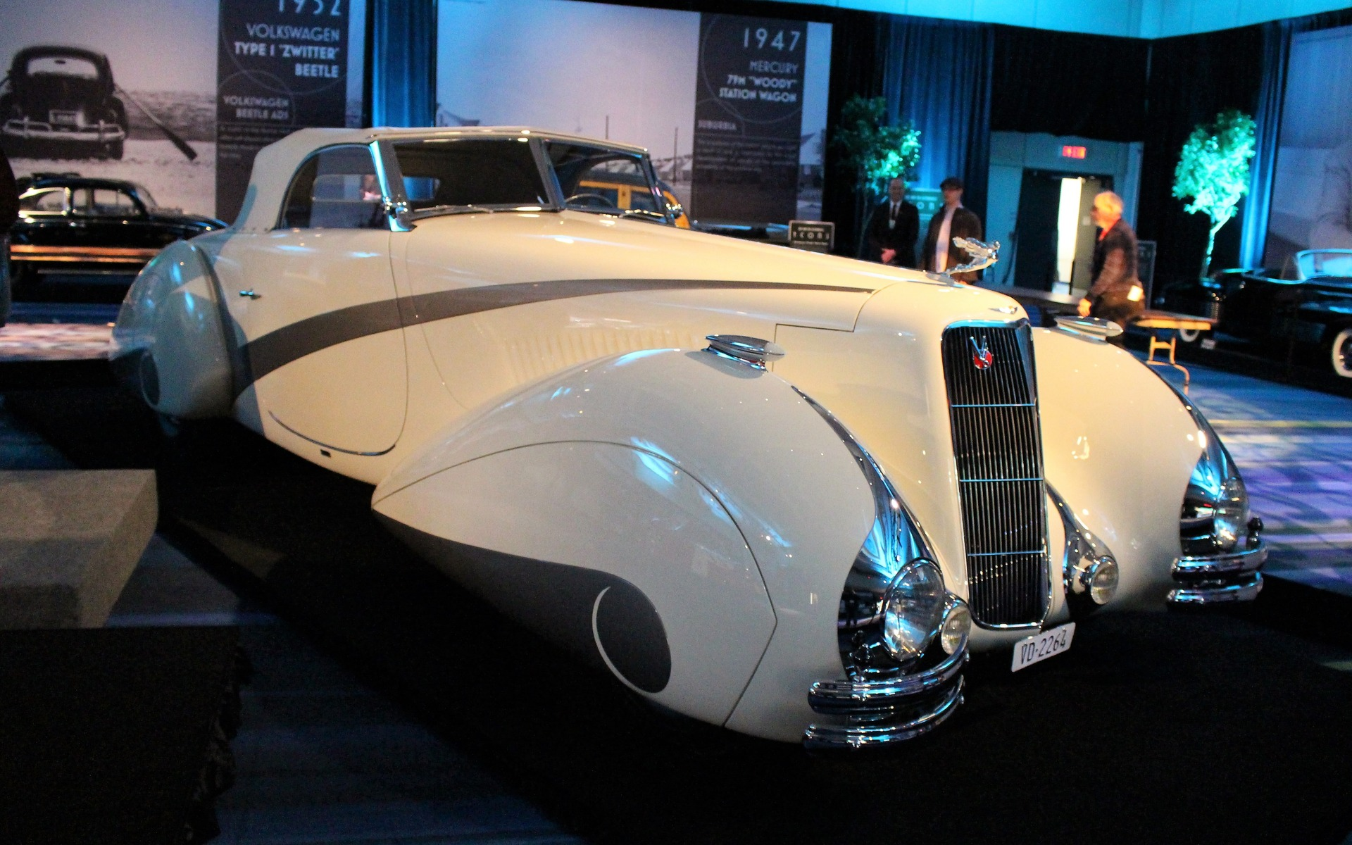 <p>1937 Cadillac Series 90 Roadster with Coachwork by Hartmann</p>