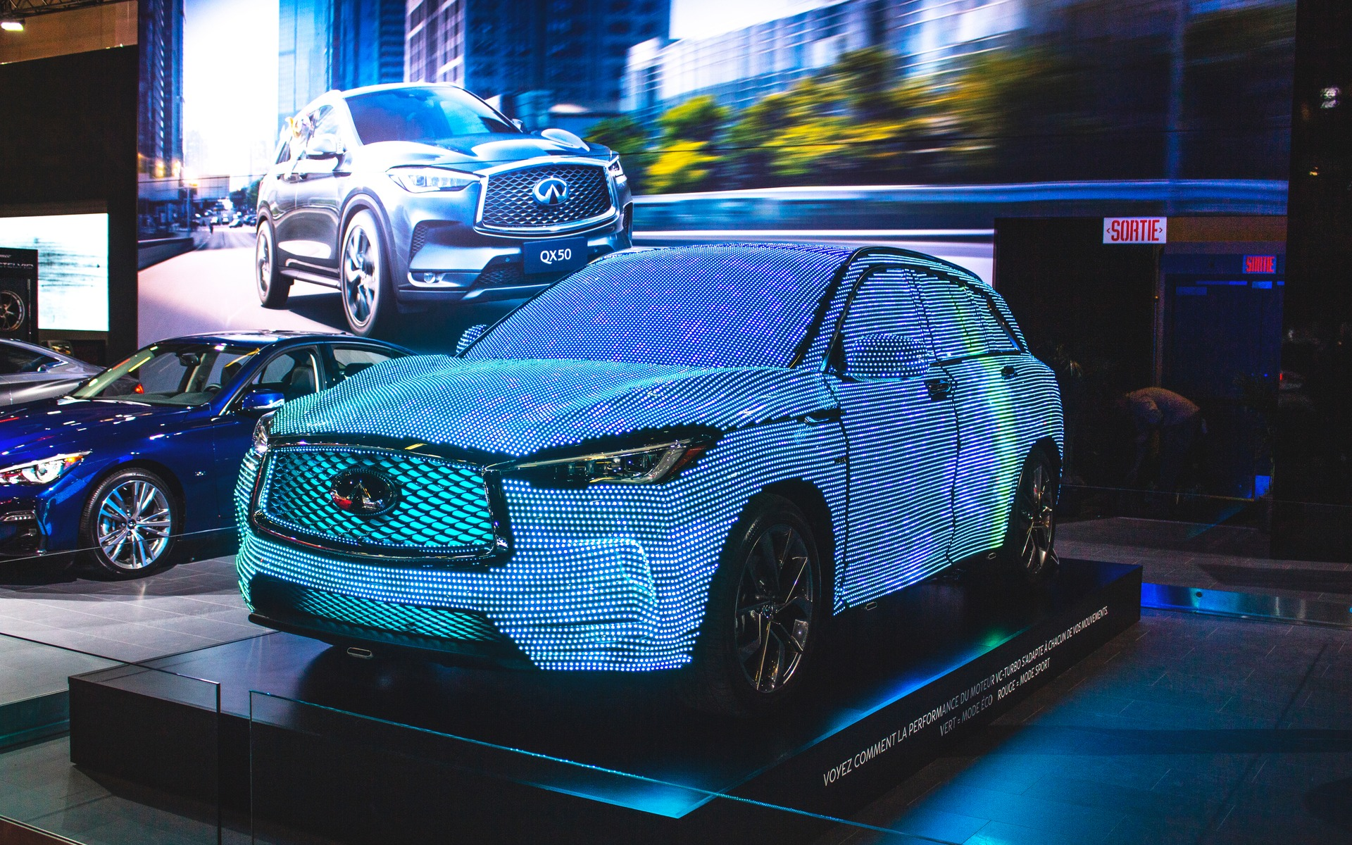 Infiniti QX50 at the 2019 Montreal Auto Show