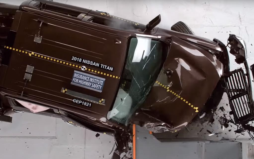Test de collision du Nissan Titan