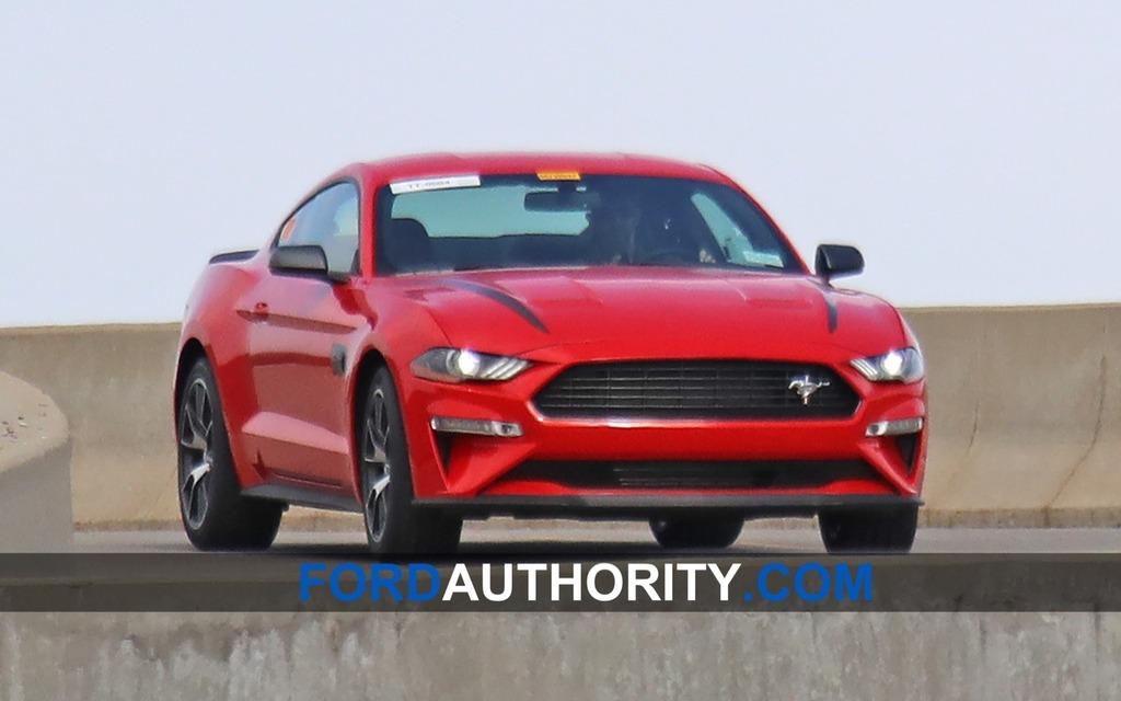 Prototype de Ford Mustang à l'essai