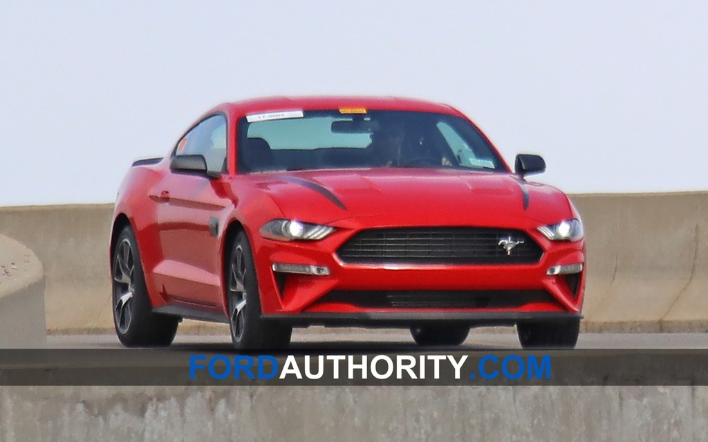 Ford Mustang prototype on the track