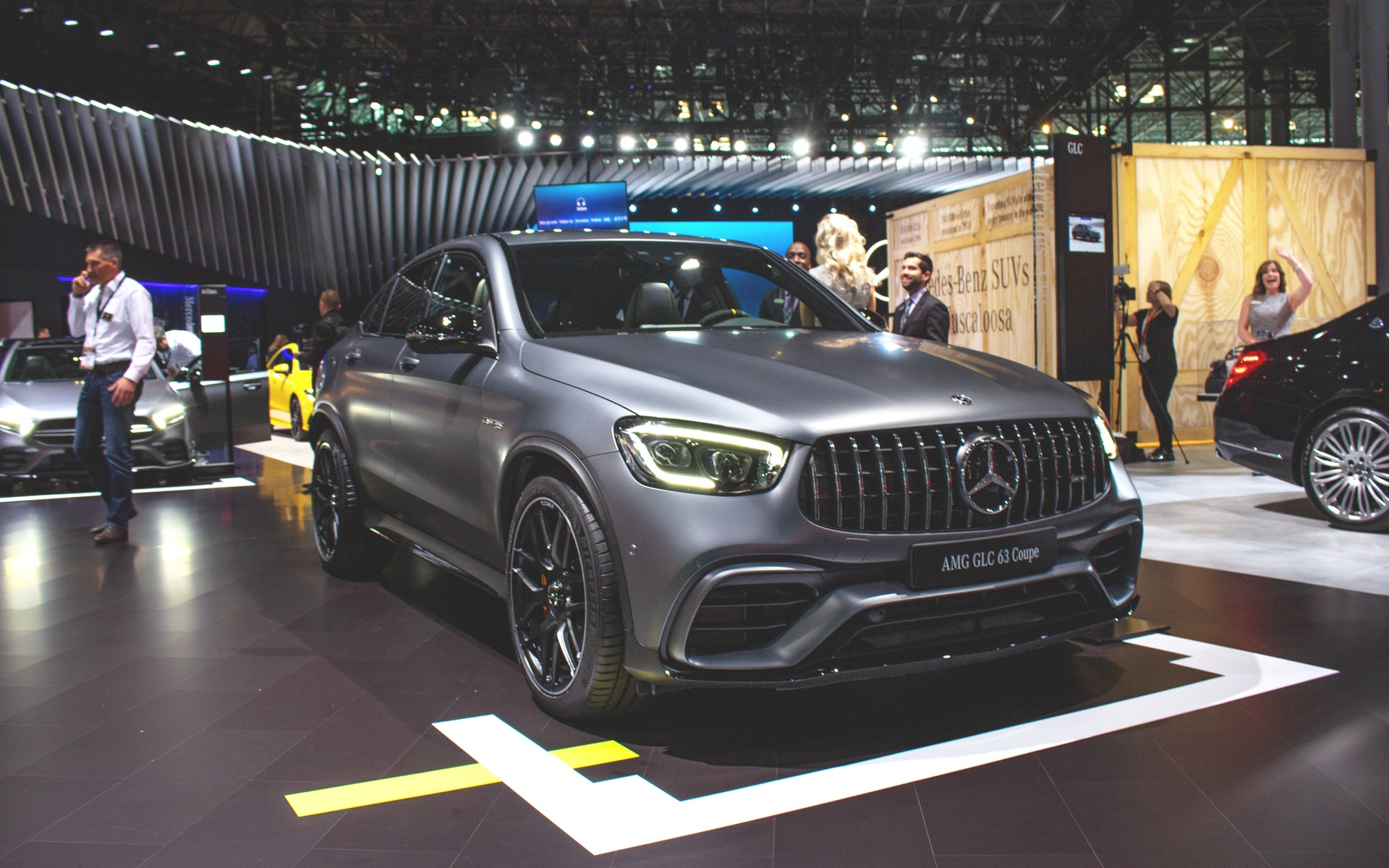 2020 Mercedes Amg Glc 63 Presented At The New York Auto Show The Car Guide