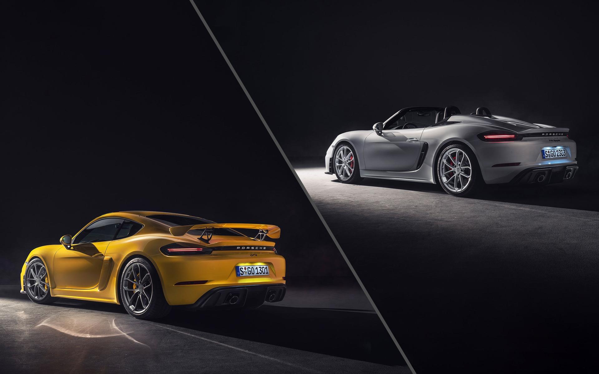 <p>Porsche 718 Spyder et 718 GT42019</p>