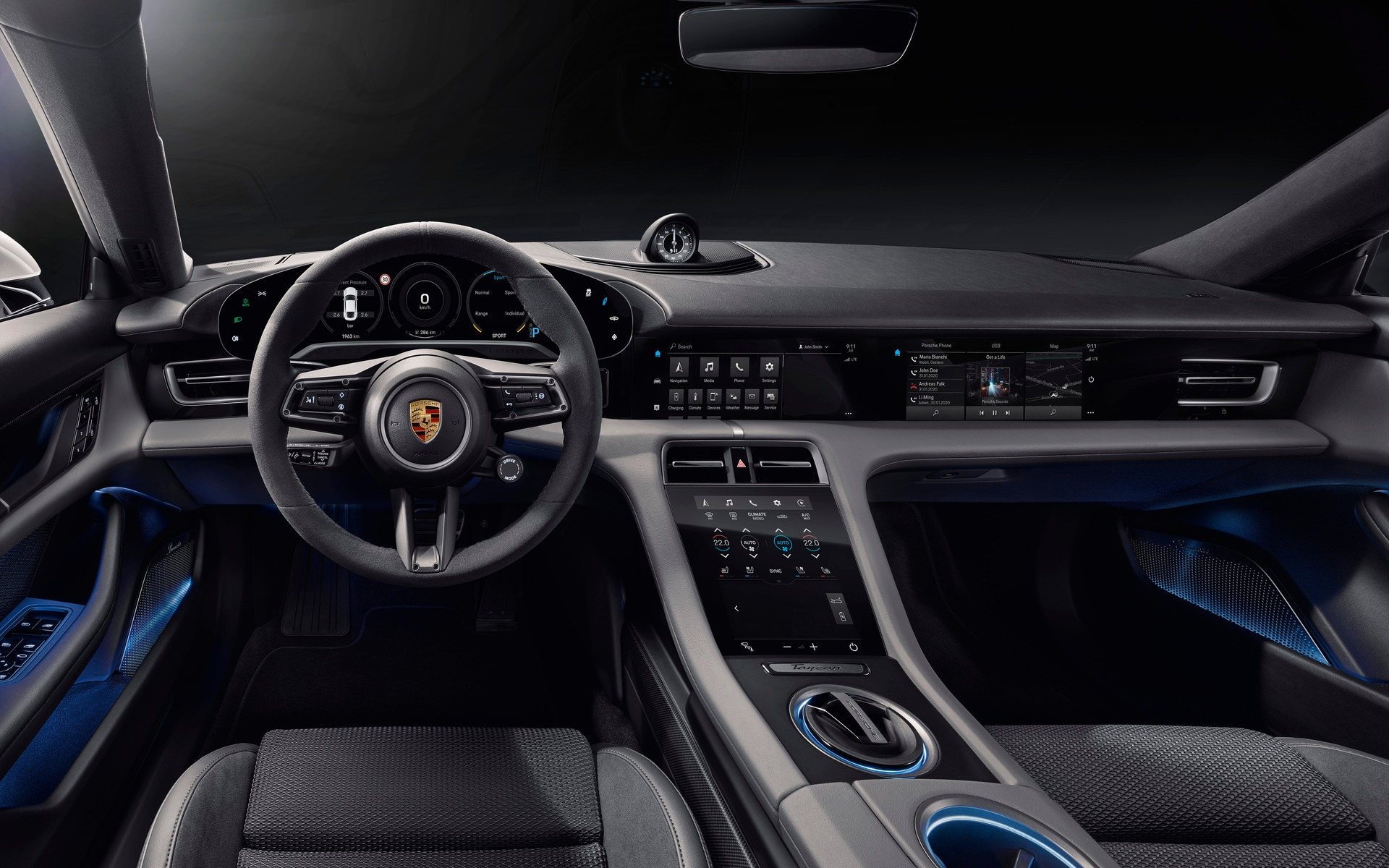 2020 Porsche Taycan Interior Revealed Ahead Of Its Official Debut The Car Guide