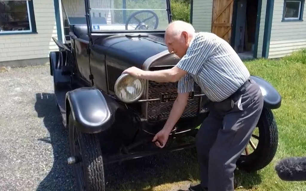 87-year-old Man Still Drives his 92-year-old Ford Model T