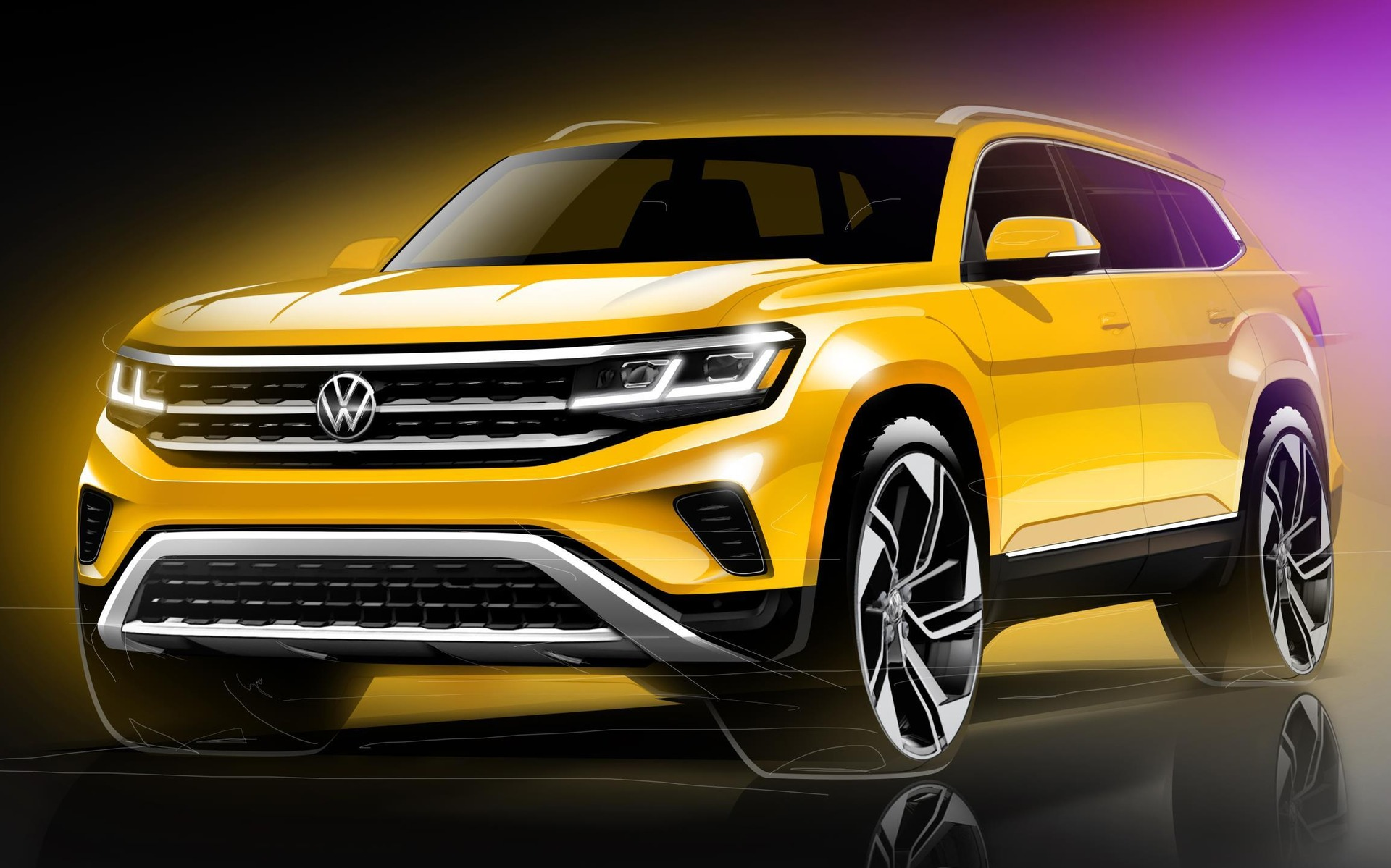 Refreshed 2021 Volkswagen Atlas Teased In New Sketches The Car Guide